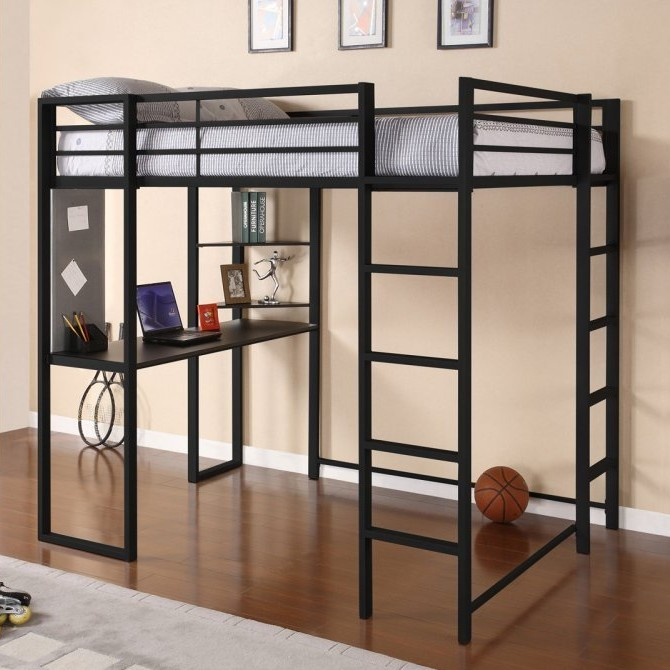 Most Reviewed – DHP Full Size Loft Bed with Desk for Adults