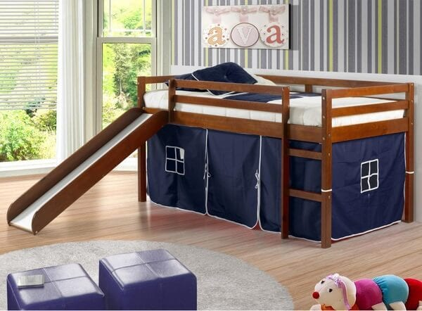 toddler loft bed with slide