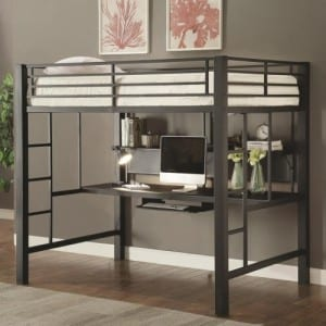 adult full size loft bed with desk