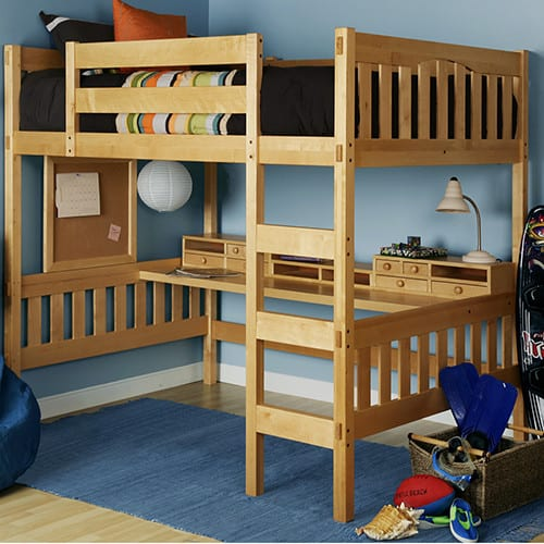 Adult Full Size Loft Bed with Desk - LoftBedDeals.com