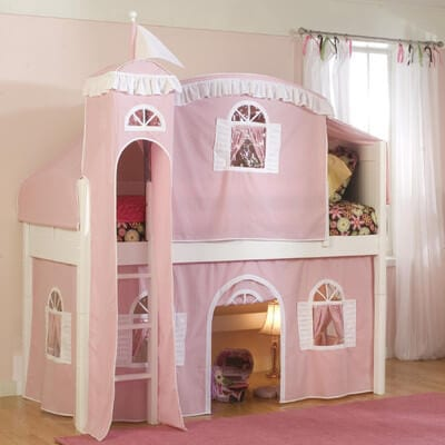 fairy castle play house bed