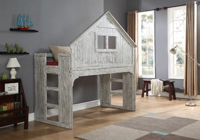 treehouse loft bed for boys