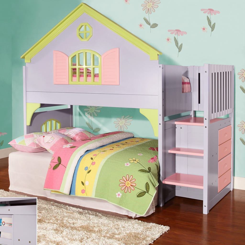 Adorable Full Kids Bedroom Set For Girl Playful Room Huz: Great Deals And Customer Reviews On