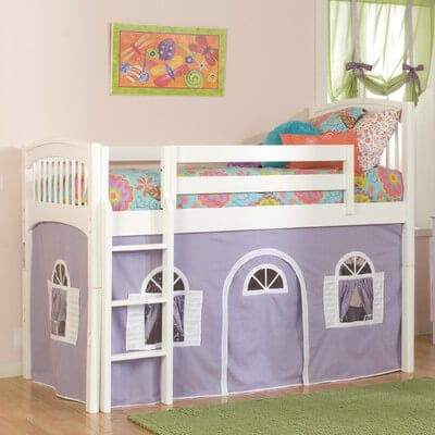 twin playhouse loft bed for kids