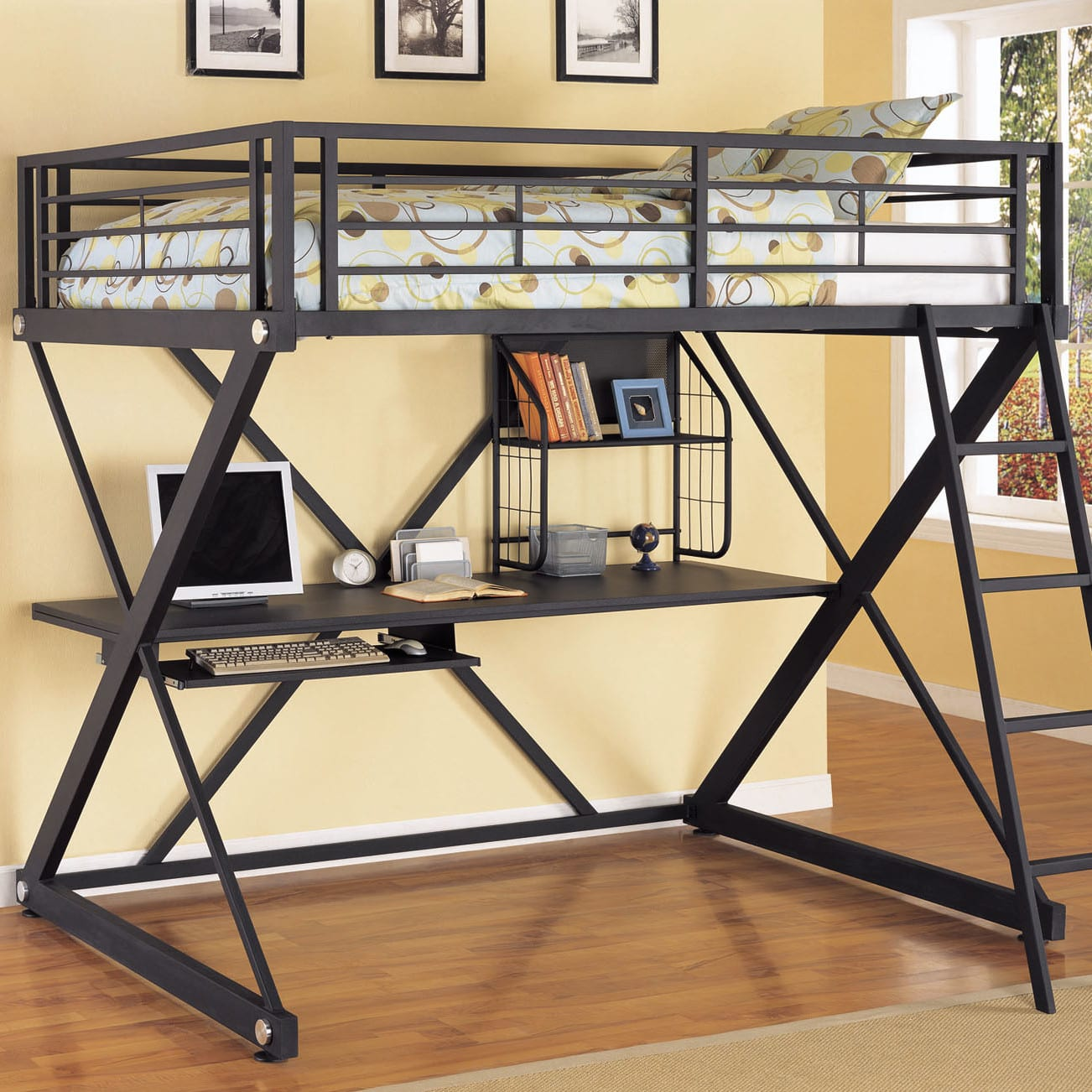 loft black desk cfm z master full with duro bed product hayneedle zbunkbedloftdeskblack bunk
