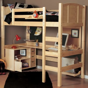twin loft bed kit with desk and storage