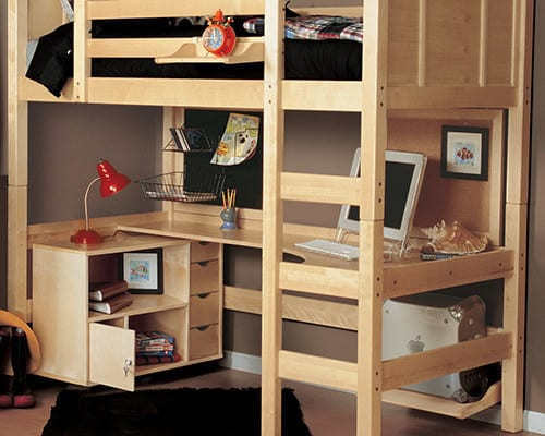 Adult Full Size Loft Bed with Desk LoftBedDeals