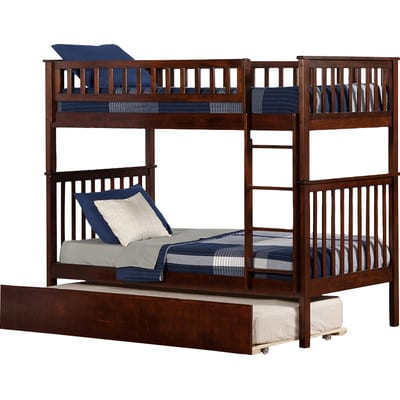 twin over twin triple trundle bed