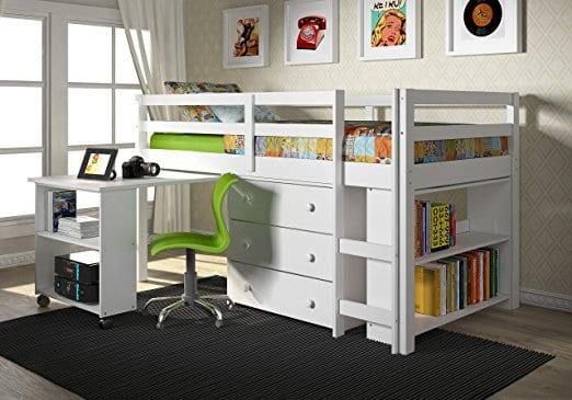 loft bed with dresser