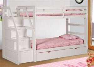 Girls White Loft Bed