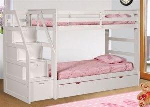 Girls White Loft Bed