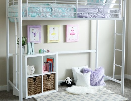 White Loft Beds For Girls