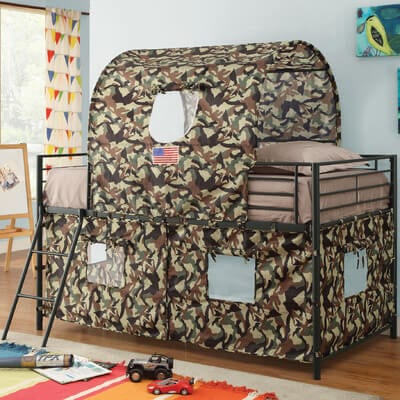 camouflage playhouse loft bed