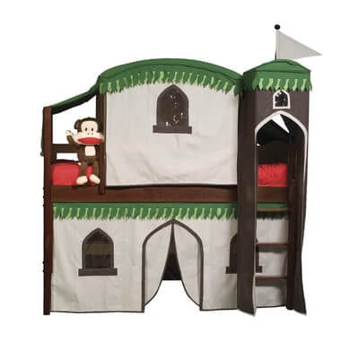 castle playhouse kids loft bed