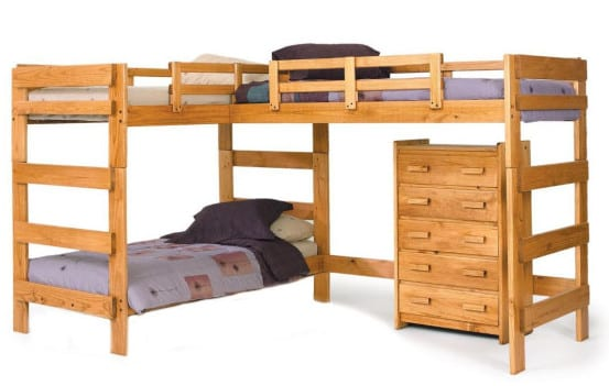 l shaped loft bed