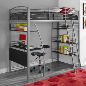 twin loft bed for kids with desk