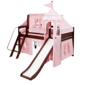 pink princess castle loft bed