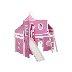 princess castle girls loft bed