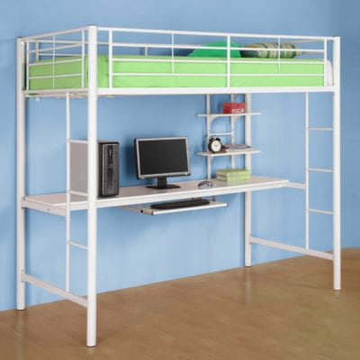 metal-white-bunk-loft-bed-with-study-desk