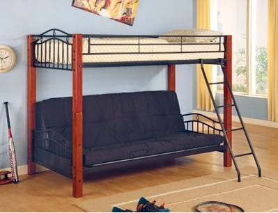 twin over futon loft bunk bed