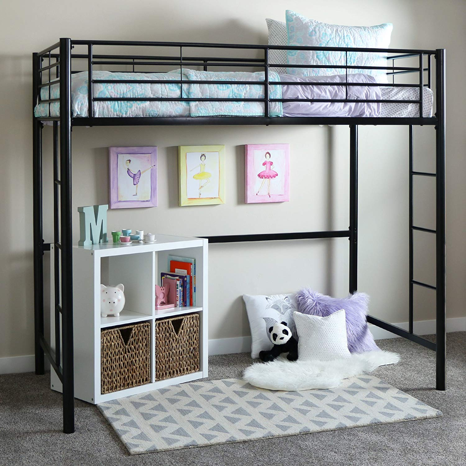 Best Black Metal Loft Bed
