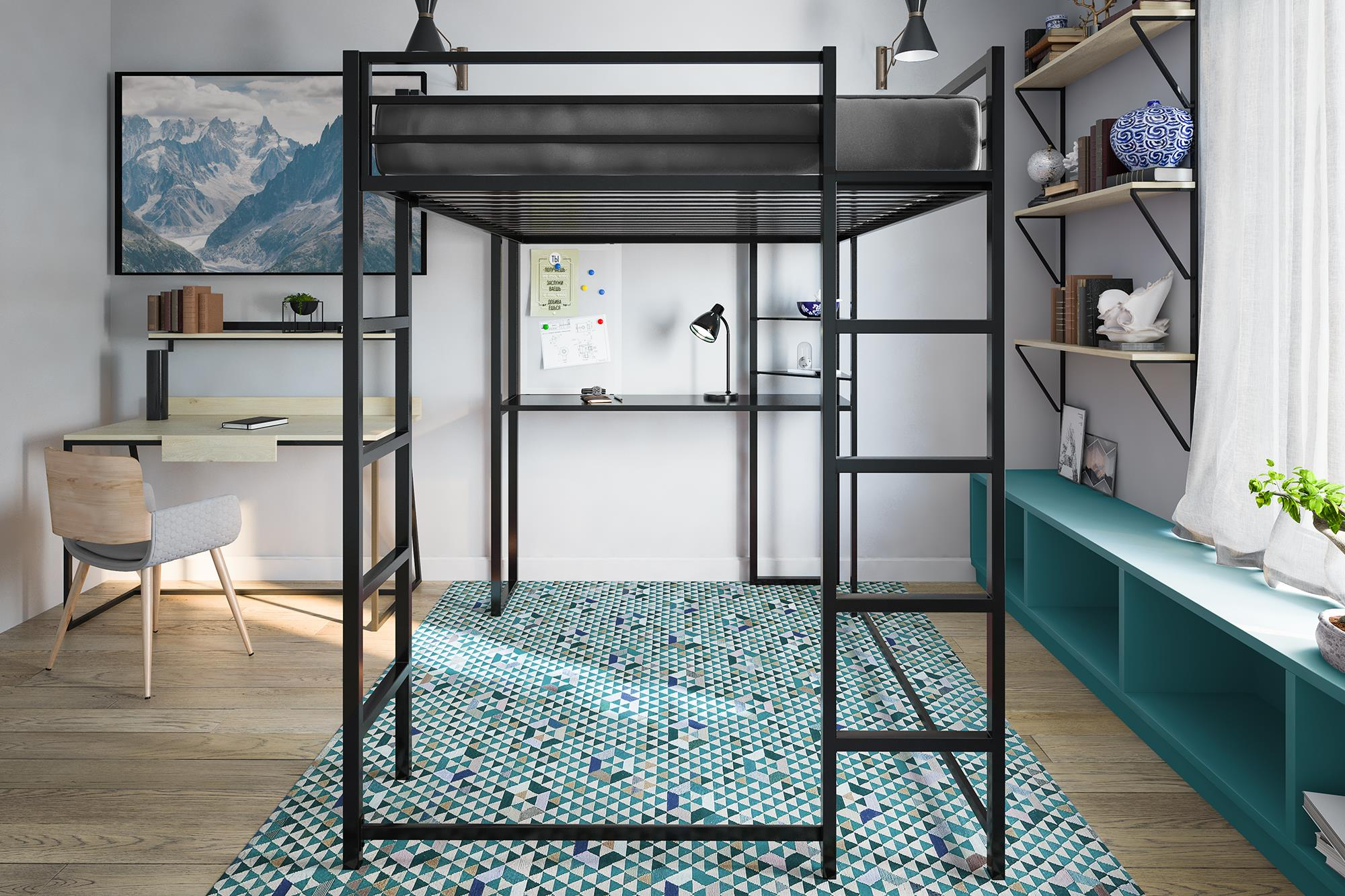 DHP Best Metal Loft Bed
