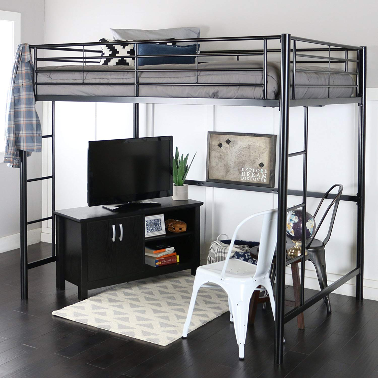 We Furniture Metal Loft Bed