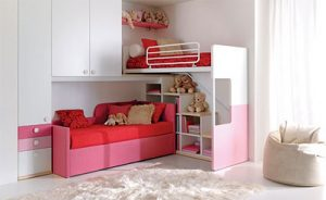 Loft Bed with Bookcase